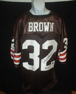 79d2db028 Jim Brown Autograph Signed Cleveland Browns  32 Darby Sports Jersey ...