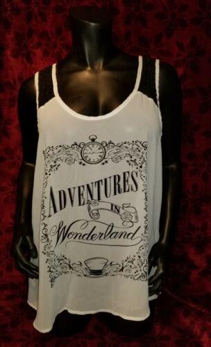 XL Disney's Alice Adventures In Wonderland Sheer T