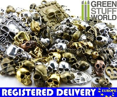 Steampunk Set 85 gr - SKULLS Mix - Jewellery Beads, Charm and Pendant