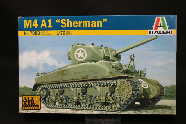 XU154 Italeri 1/72 Modellino Tank Char 7003 M4 A1 Sherman