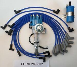 small block ford 289 302 blue small hei distributor 45k coil rh ebay com