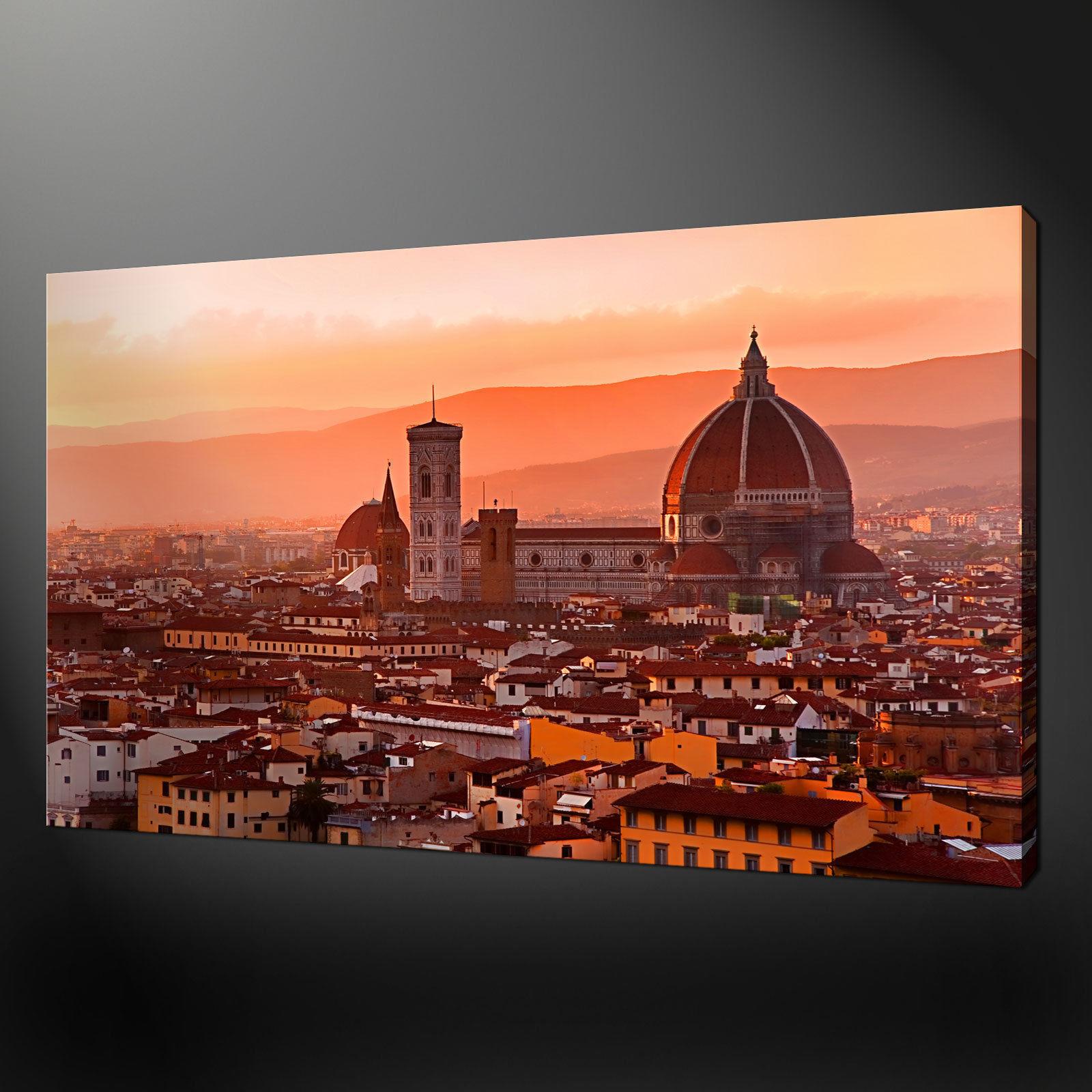 FIRENZE Panorama Qualità Tela Stampa Immagine Modern Wall Art pronto da appendere