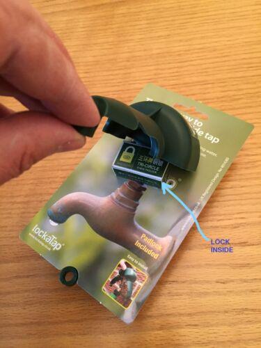 LOCKATAP OUTSIDE GARDEN TAP LOCK PROTECTIVE COVER MADE IN UK