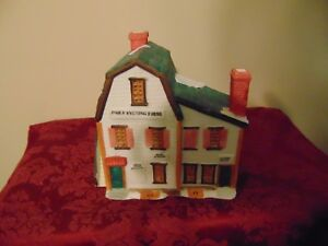 Lemax Christmas Village Light-up House 1988 Daily Evening Press