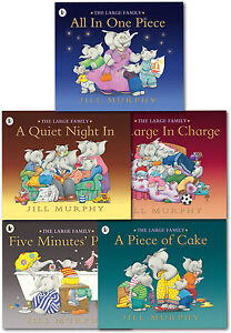 Large-Family-Collection-Jill-Murphy-5-Books-Set-A-Piece-of-Cake-Five-Minutes-PB