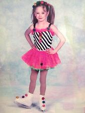 Girls Skating Costume Tutu Dress Performance Ready Child Pink Black Medium 8-10C