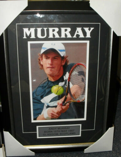 ANDY MURRAY HAND SIGNED 8x10 PHOTO FRAMED + PHOTO PROOF & C.O.A