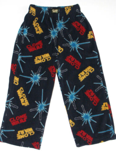Star Wars Clone Wars NEW Blue PJ Fleece Pajama Lounge Pants Boys Size XS 4//5