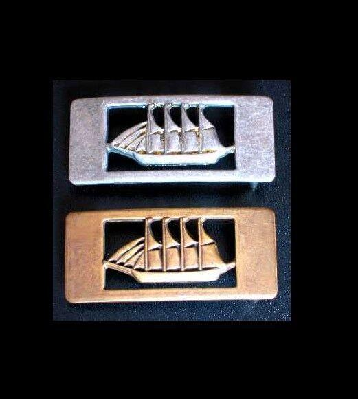 Gürtelschnalle für 20mm breite GÜRTEL Seefahrt Gorch Fock Segelboot Schiff NEU