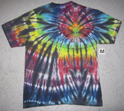 Dark /& Colorful Rainbow /& Black Midnight Prism Tie Dye T-Shirt