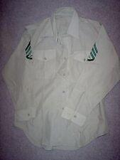 "USMC US Marine Corps Short Sleeve Khaki Service ""B"" Shirt S/Sgt 16 x 32"