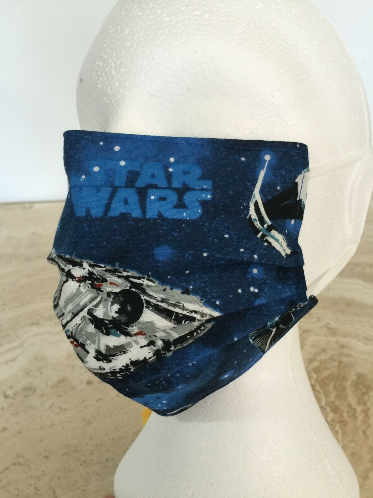 Star Wars Face Mask Millennium Falcon, X-Wing adjustable ear cords and nose wire