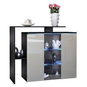 Dettagli su Comò moderno Rock, mobile per soggiorno con vetrina,credenza  bianca in 14 colori