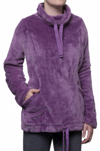 1 femmes thermique hiver chaud heat holders snugover polaire pull violet l//xl