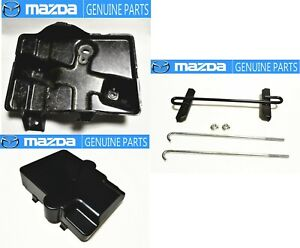 MAZDA-89-92-RX-7-FC3S-TURBO-Battery-Box-Cover-amp-Tray-amp-Hold-Down-Clamp-Set-JDM