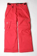 686 Boys Smarty Original Cargo Snowboard Pant (L) Texture Dark Red