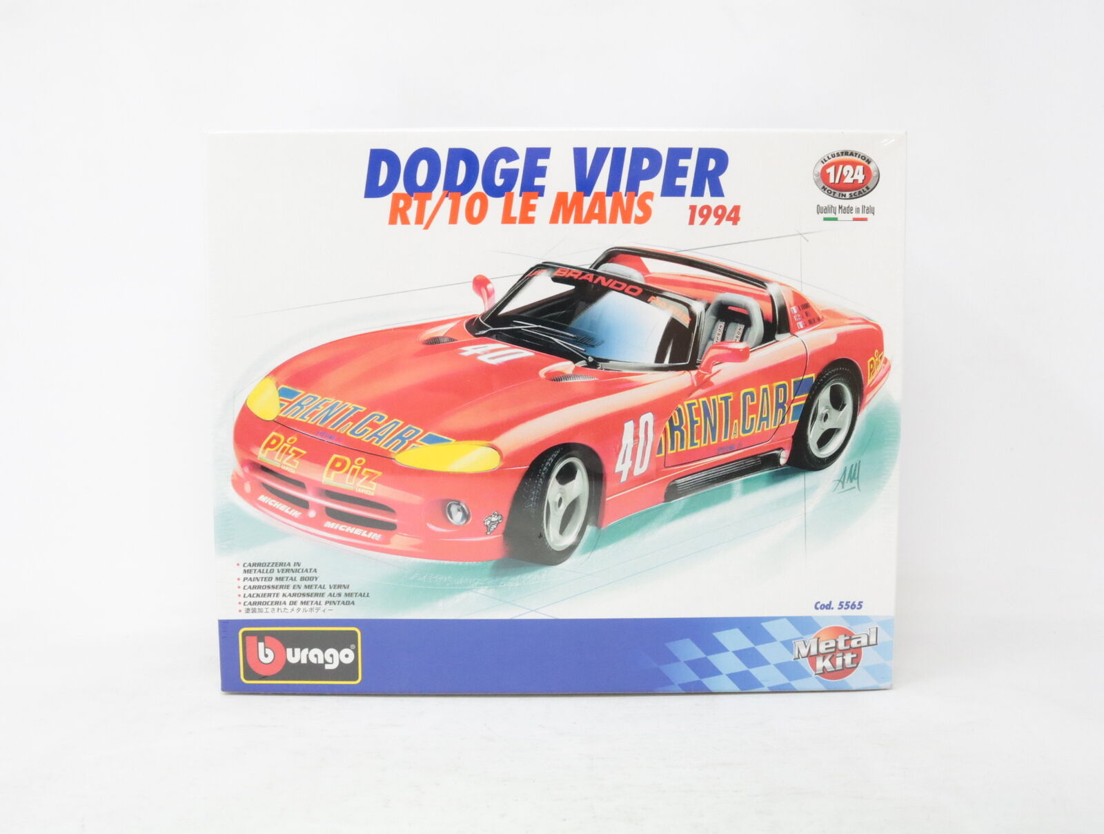 1 24 BBURAGO METAL KIT DODGE VIPER RT 10 LE MANS cod. 5565  [WE-017]