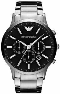 Emporio-Armani-AR2460-Black-Face-Classic-Chronograph-Mens-Watch