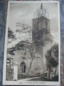 CPA-Greolieres-L-039-Eglise-Alpes-Maritimes