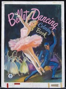 WALTER-SEATON-1947-Original-Cover-Art-034-Ballet-Dancing-Coloring-Book-034-A108