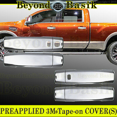 For 2016 17 Dodge Ram Chrome 2 Door Handle COVERS without passenger side keyhole