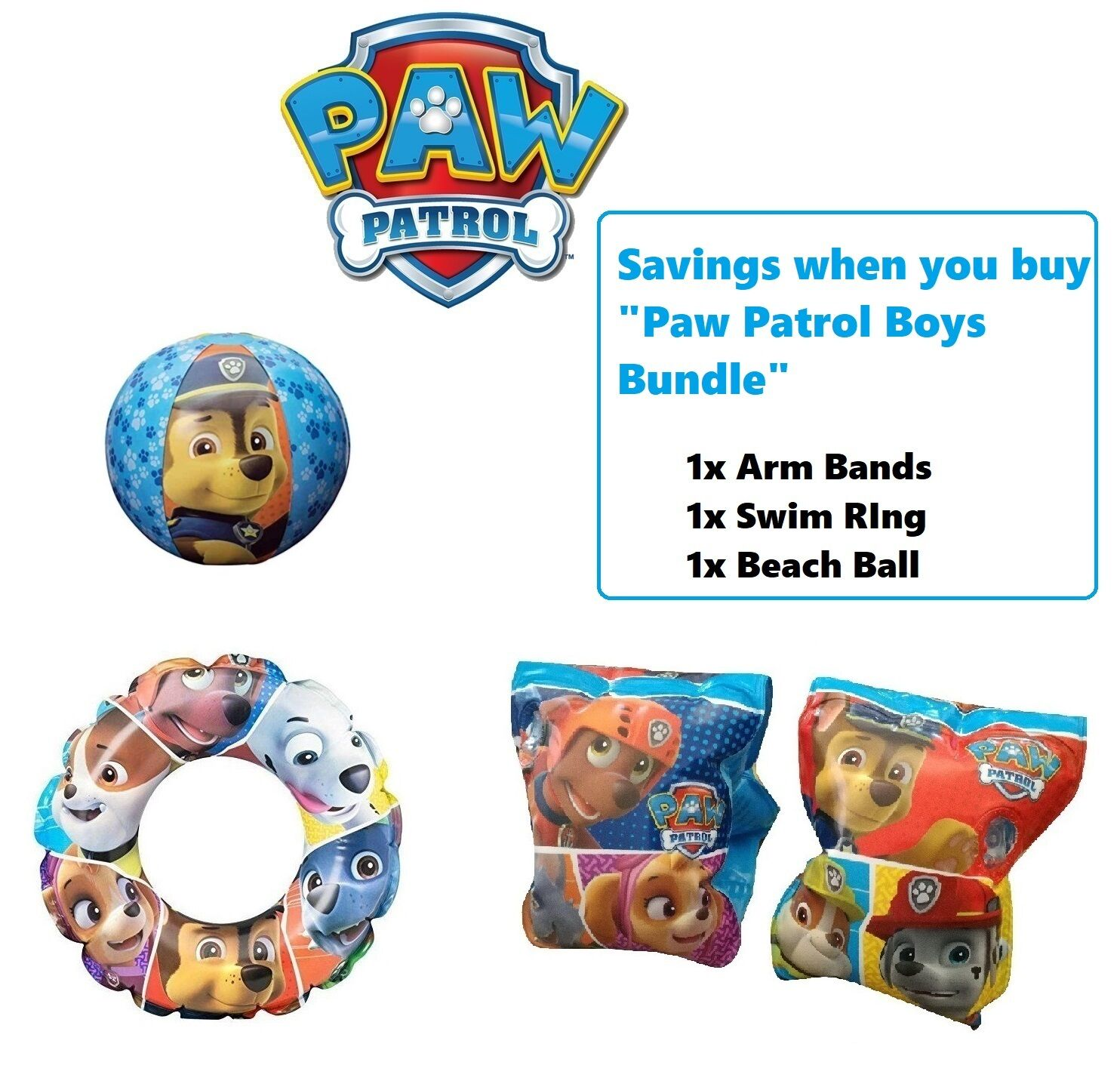 Swimming Paw Patrol Girls Inflatable Swim beach Ring holiday pink nickelodeon