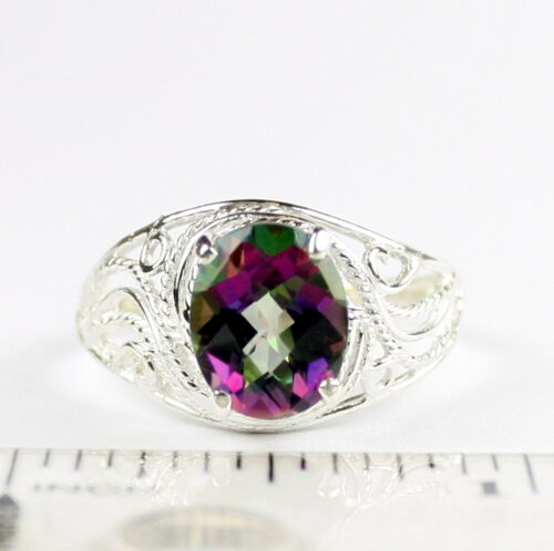 Mystic Fire Topaz 925 Sterling Silver Ladies Ring-Handmade SR083
