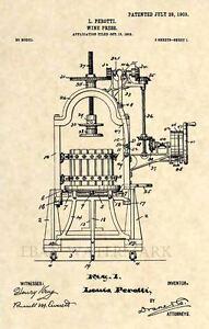Official-Wine-Press-US-Patent-Art-Print-Vintage-1903-Antique-Original-193