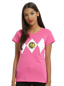 bda6c410ee2 Image is loading Mighty-Morphin-Power-Rangers-Pink-Ranger-Girls-Tee