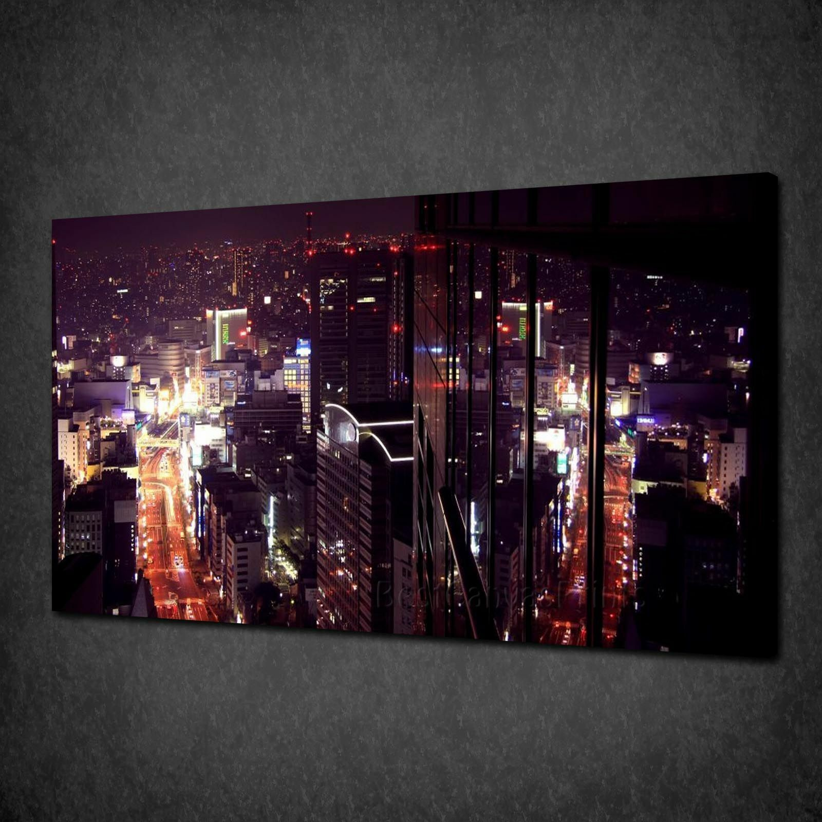 THE lilaLICOUS CITY SKYLINE BOX CANVAS PRINT WALL ART PICTURE