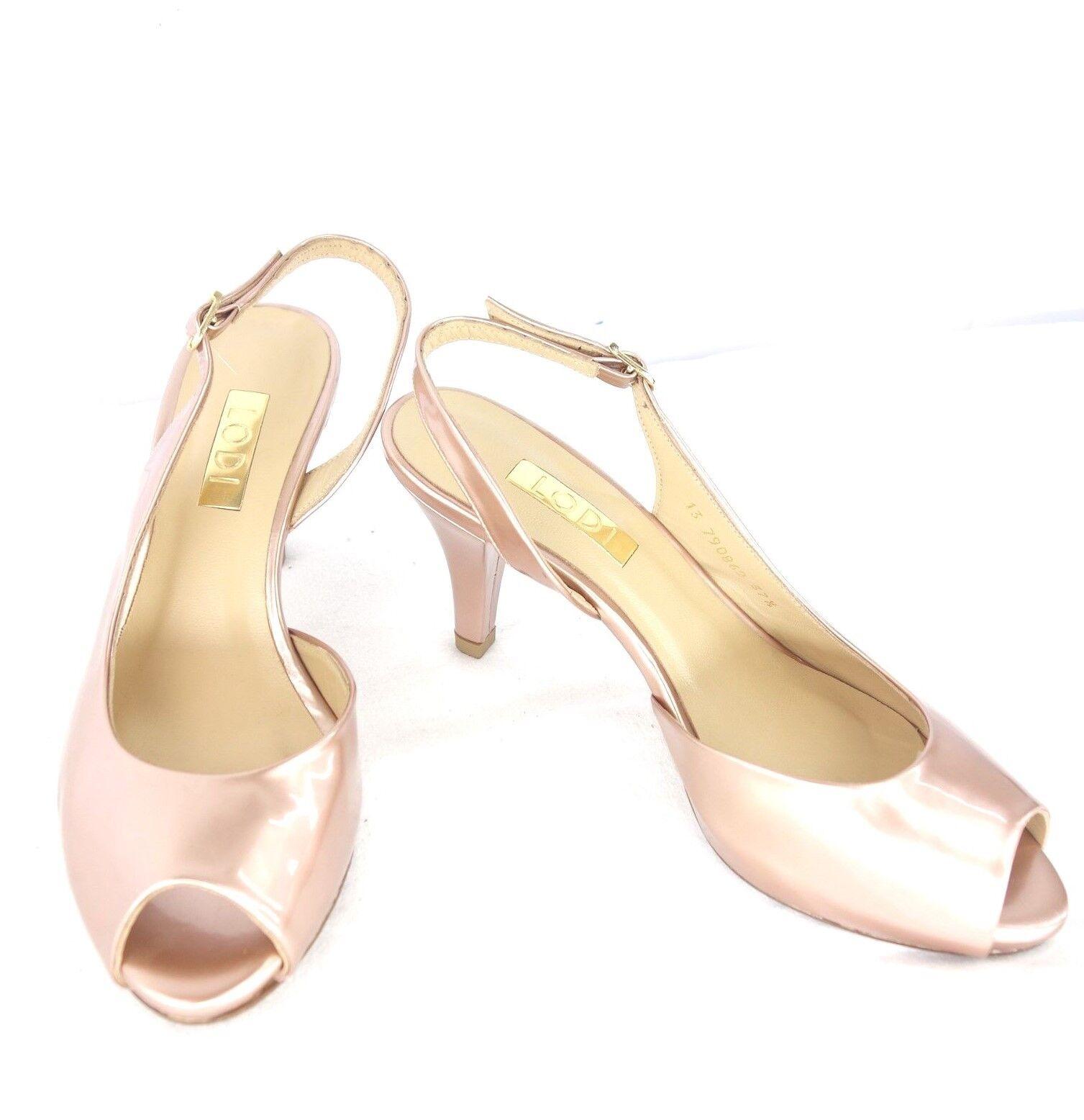 LODI Damen Schuhe Pumps Halbschuhe Peep Toes  Glanz  Toes Leder Rosa NP 159 NEU 991843