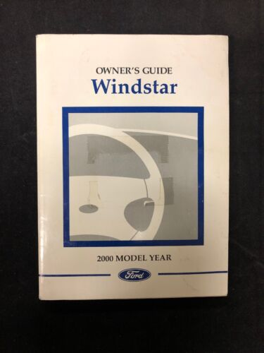 00 2000 Ford Windstar Owners Manual Guide FREE SHIPPING Owner SMOKE FREE Book