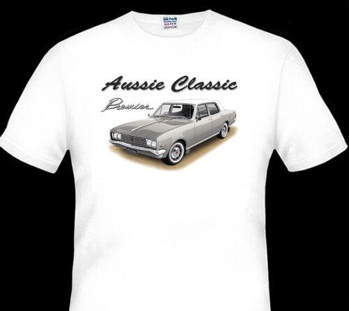 BIG FIT 8 CAR COLOURS 1970  HOLDEN HG  PREMIER  V8  SEDAN  WHITE TSHIRT