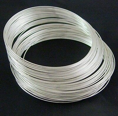 10 OR 50 MEMORY WIRE STEEL SILVER GOLD PLATED BANGLE BRACELET NECKLACE