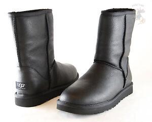men ugg australia classic short leather boot 1003944 black 100 rh ebay co uk