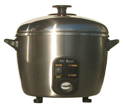 Sunpentown SPT Rice Cooker Steamer 3 Cups Stainless Steel - SC-886