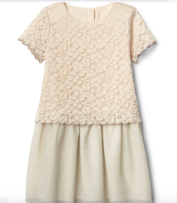 BABY GAP GIRL Scalloped double-layer dress NWT 2T 3T 4T N12 NNN
