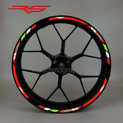 Aprilia RS motorcycle reflective wheel decals stickers rim stripes rs125 rs250