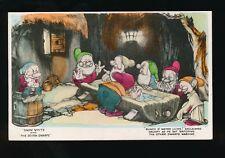 WALT DISNEY Snow White Grumpy Dwarfs c1930s Valentine RP PPC no number early