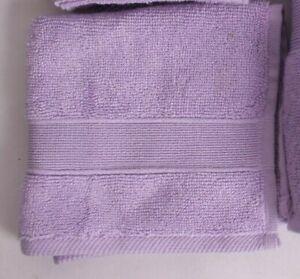 set-2-NWT-Pottery-Barn-Kids-Classic-Essential-Solid-wash-cloths-lavender-purple