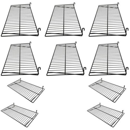 10 Pc Gloss Black 24/'/' x 12/'/' Wire Grid Shelf Shelves Gridwall Display Fixture