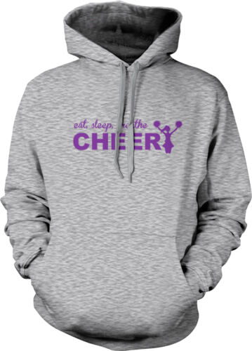 Eat Sleep Breathe Cheer Life Cheerleader Team Squad My Is Pom Hoodie Sweatshirt