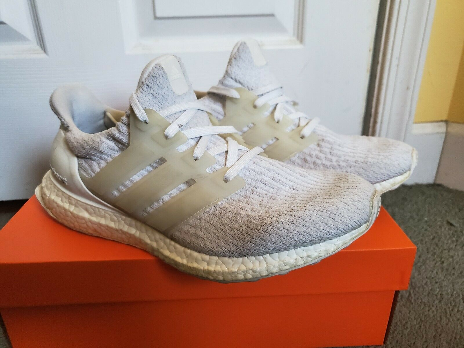 Adidas Ultra Boost 3.0 Triple White NEW Without Box SZ 8.5 Authentic