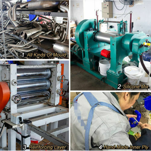 2008-2011 08 09 10 11 Yamaha Rhino 700 Silicone Radiator Coolant Hoses Blue