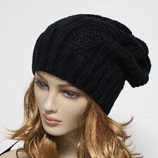 Knit Beanie Men Women Winter Oversize  Baggy Hat Ski Slouch Cap Chic Unisex Hats