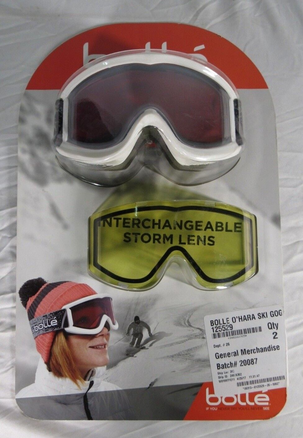 Bolle UVA UVB Snowboarding Skiing Goggles w  Storm Lens
