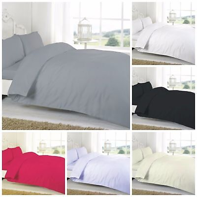 Plain Flannelette 100/% Brushed Cotton Fitted /& Flat Sheet Sets With Pillowcases