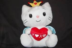 Hello-Kitty-Angel-Cat-Sugar-Yuko-Shimizu-Red-Heart-Dan-Dee-Plush-18-034-Toy-Lovey