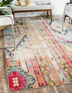 Image Is Loading Tribal Design Vintage Style Area Rug Faded Contemporary