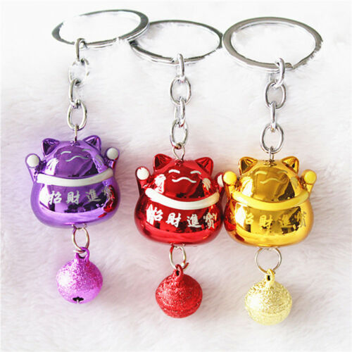 Cute Chinese Style Lucky Fortune Cat Key Chain Hanging Key Rings Pendants Gifts